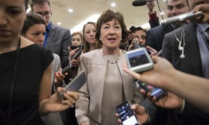 Susan Collins in July, when she voted against the plan to repeal the ACA.