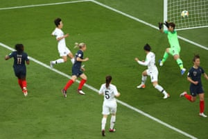 Le Sommer scores the tournaments first goal.