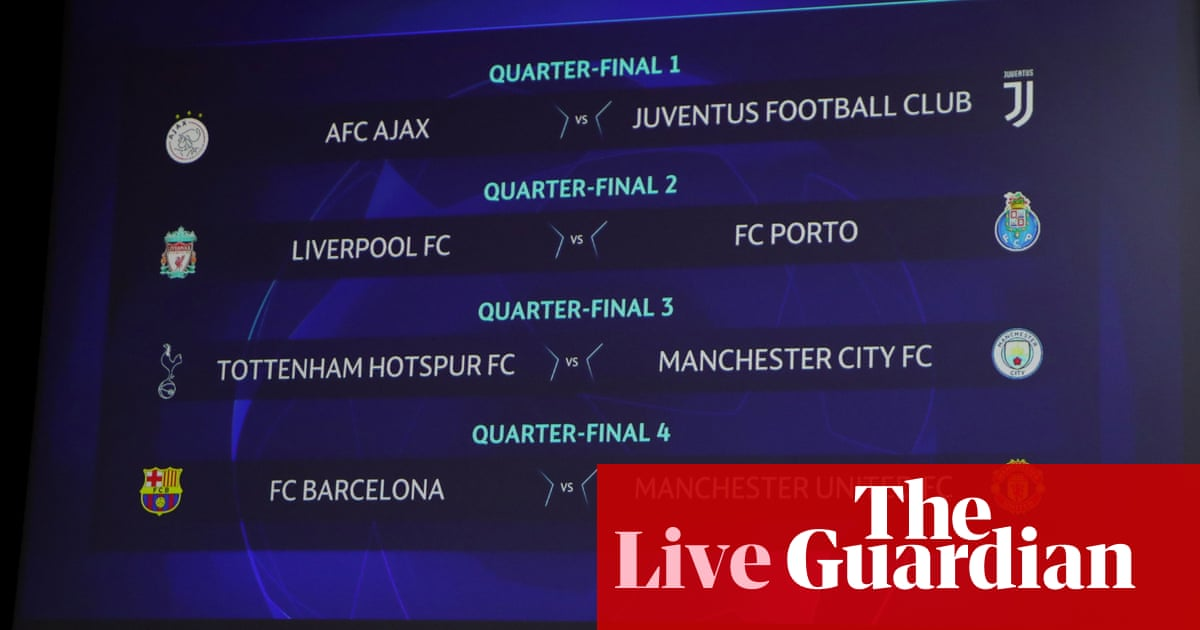 Champions League: Spurs v Man City and Barça v Man Utd in