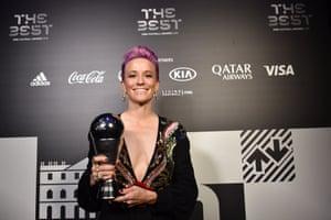 Megan Rapinoe with the best FIFA women's player award.
