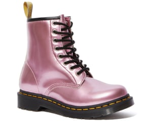 Vegan sparkling-pink 1460 boots by Dr Martens