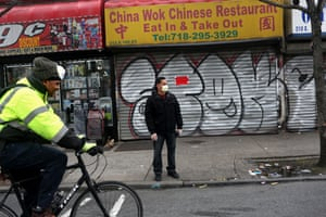Businesses near E. 180th St. and Bathgate Ave. in the Bronx, NY, and all over the city are shuttered due to the novel coronavirus pandemic on April 10, 2020.