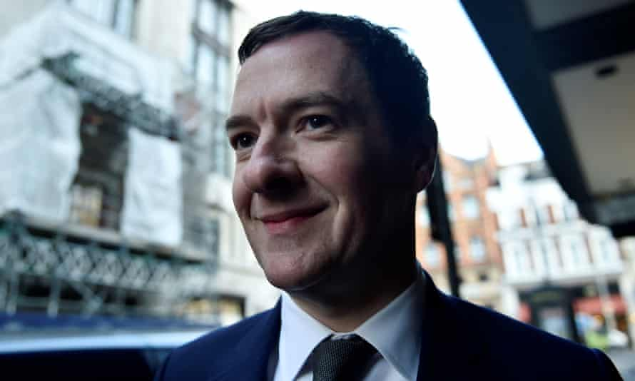 The former chancellor George Osborne