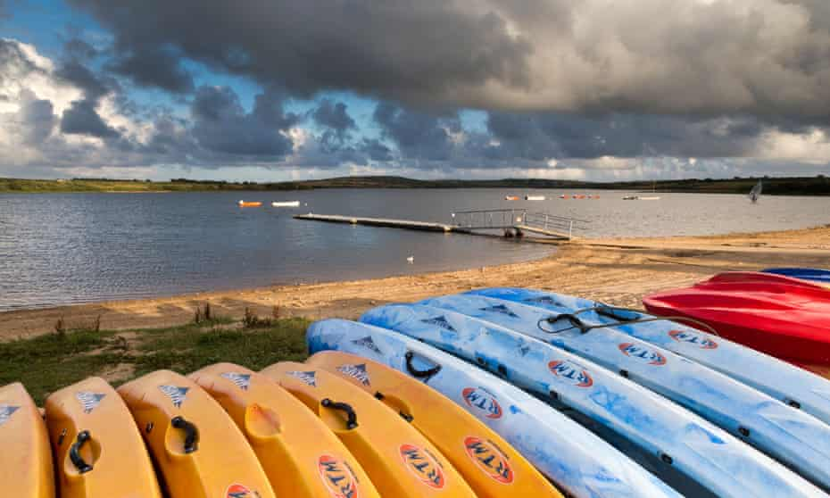Watersports equipment by Stithians Lake.