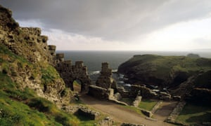 Looking out to sea from the ruins of Tintagel Castle.