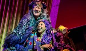 Crackles with comic menace … Michael Bertenshaw and Joanne Sandi in Rapunzel.