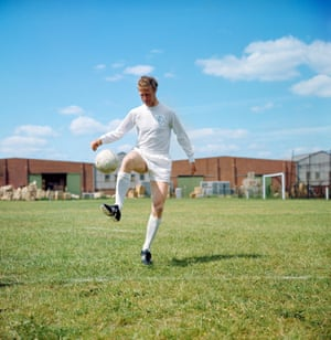 Jack Charlton takes part in a training session with Leeds United, the club where he spent his entire playing career.