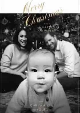 The Sussexes' Christmas card.