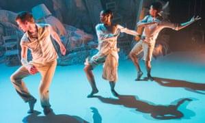 Benjamin Warbis, Monique Jonas and Luke Crook in Terra by Print Room Dance Company.