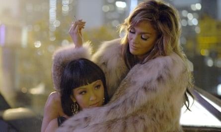 Constance Wu and Jennifer Lopez in Hustlers