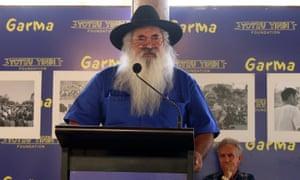 Pat Dodson addresses the Garma Festival