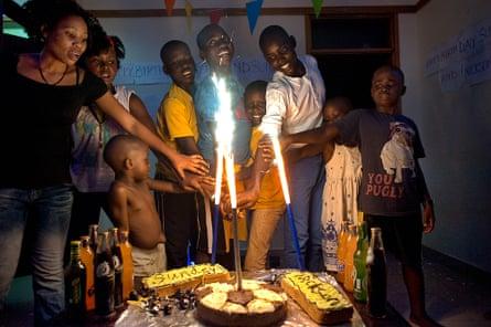 Nickson at his 16th birthday celebrations