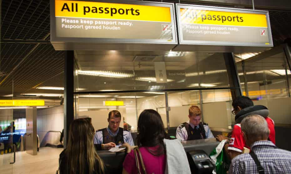 passport control at schiphol airport