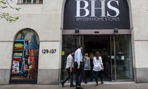 BHS employees at the headquarters on Marylebone Road, London