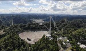 El telescopio espacial del Observatorio de Arecibo.