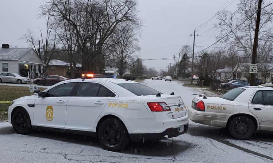 Five people, including a pregnant woman, have been found shot to death at a home i Inndianapolis.