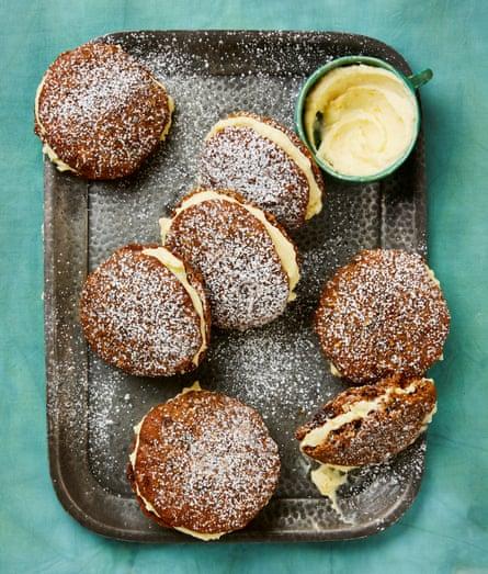 Yotam Ottolenghi's carrot cake sandwich cookies.