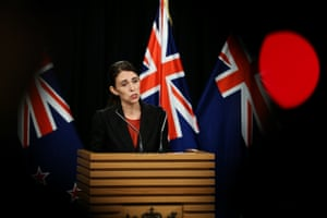 Jacinda Ardern, the prime minister of New Zealand, addresses a press conference at parliament in Wellington