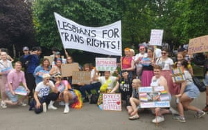 'Lesbians for trans rights'