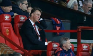 Louis van Gaal during Manchester United's match against Norwich City