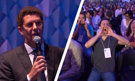 Brazil's environment minister heckled at climate conference - video report
