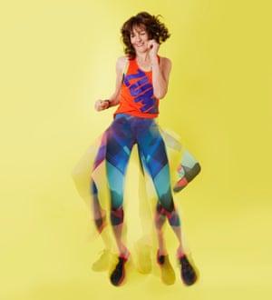 Zoe Williams in Zumba T-shirt