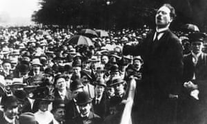 Karl Liebknecht speaking at a peace rally in Berlin