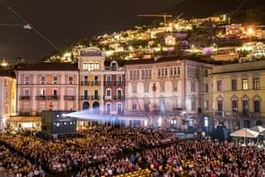 The official opening in the Piazza Grande of the 71st Locarno international film festival, 1 August 2018.