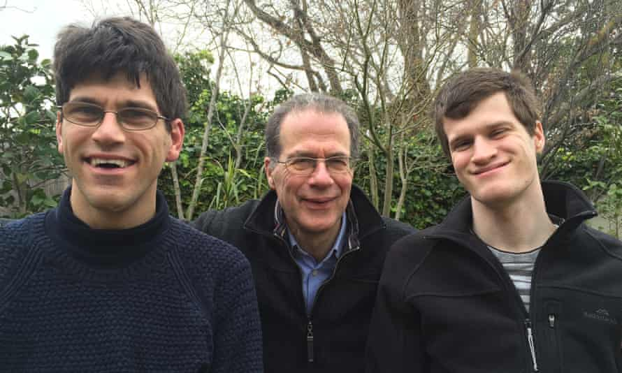 Prof Bruce Bonyhady, the inaugural chair of the National Disability Insurance Agency, with his sons.