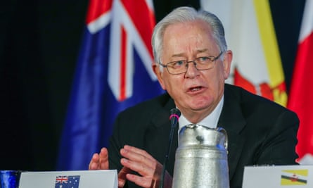 Andrew Robb, the trade and investment minister, in Atlanta after the TPP was agreed on Monday.