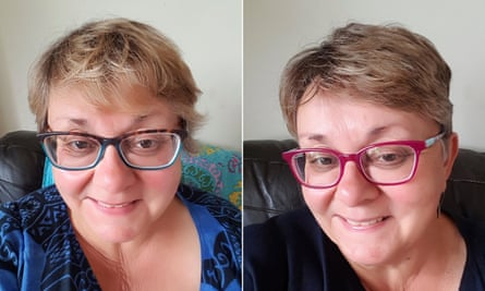Linzi Mathew's before and after haircuts.
