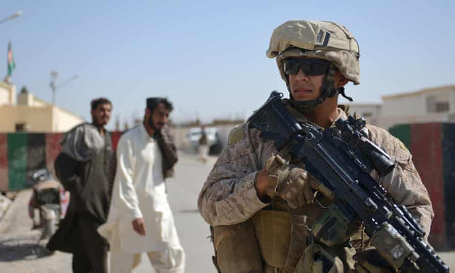 A US Marine in Helmand province, Afghanistan, in 2012