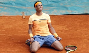 Rafael Nadal celebrates a hard-fought victory, and a return to winning ways in Masters tournaments.