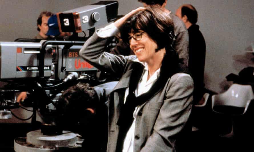 Nora Ephron, on a film set