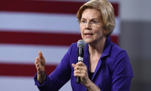 Democratic Presidential Candidates Attend Forum On Wages And Working People<br>LAS VEGAS, NEVADA - APRIL 27: Democratic presidential candidate U.S Sen. Elizabeth Warren (D-MA) speaks at the National Forum on Wages and Working People: Creating an Economy That Works for All at Enclave on April 27, 2019 in Las Vegas, Nevada. Six of the 2020 Democratic presidential candidates are attending the forum, held by the Service Employees International Union and the Center for American Progress Action Fund, to share their economic policies. (Photo by Ethan Miller/Getty Images)