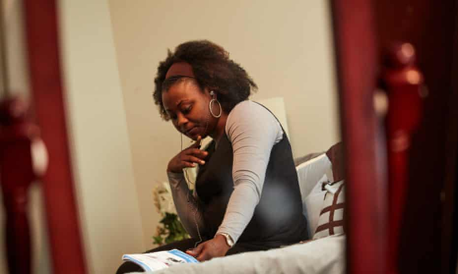 Tiffany Burns waits for her boyfriend Chrishon Brown to call from prison.