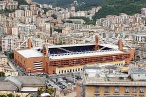 Marassi stadium Genoa.
