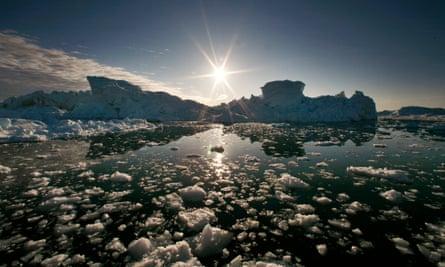 Melting ice caps in Jakobshavn fjord, Ilulissat.