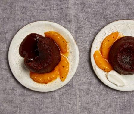 Yotam Ottolenghi's chocolate, orange and chipotle fondants
