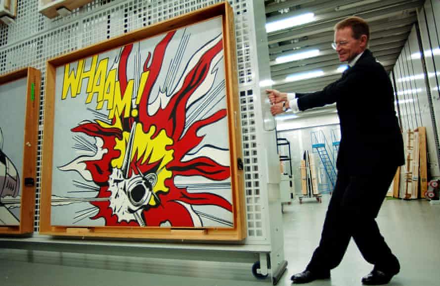 Mover and shaker … Nicholas Serota pulls Roy Lichtenstein's Whaam! from storage at Tate Modern.