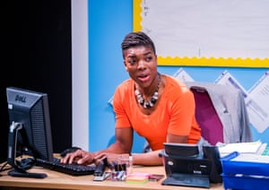 Ann Ogbomo plays Jo, the beleaguered headteacher on Sats results day in School Play at Southwark Playhouse, London.