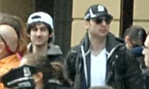 Dhzokhar and Tamerlan Tsarnaev, seen here among the crowd at the 2013 Boston Marathon. Orlando terror attack suspect Omar Mateen falsely told co-workers in 2013 that he knew the brothers.