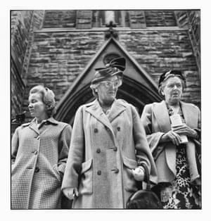Outside Presbyterian Church on Sixth Avenue, September 1950