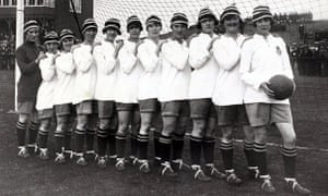 Dick Kerr International Ladies AFC, undefeated British champions, 1920-21.
