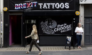 A pop-up Brexit tattoo shop in central London