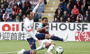 Aaron Lennon slides in Burnley's second goal against Bournemouth