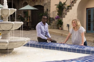 William Jackson Harper and Kristen Bell in the Netflix series The Good Place