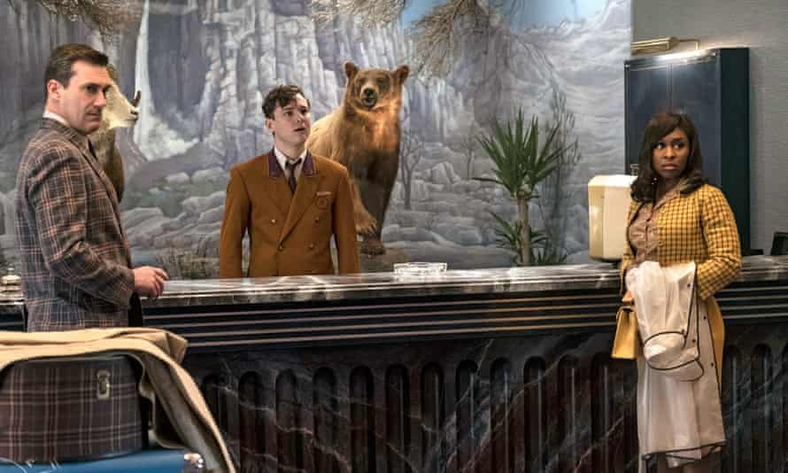 Lobby group … Jon Hamm, Lewis Pullman and Cynthia Erivo in Bad Times at the El Royale.