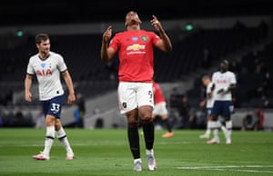 Anthony Martial reacts.