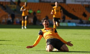Pedro Neto celebrates after scoring what proved to be the winner at Molineux.